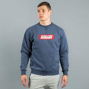 box logo sweater navy melange 2