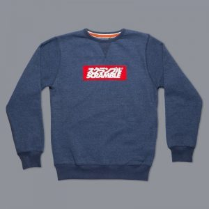 box logo sweater navy melange 5