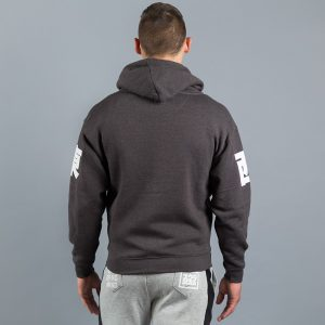 east west zip up hoody black melange 3