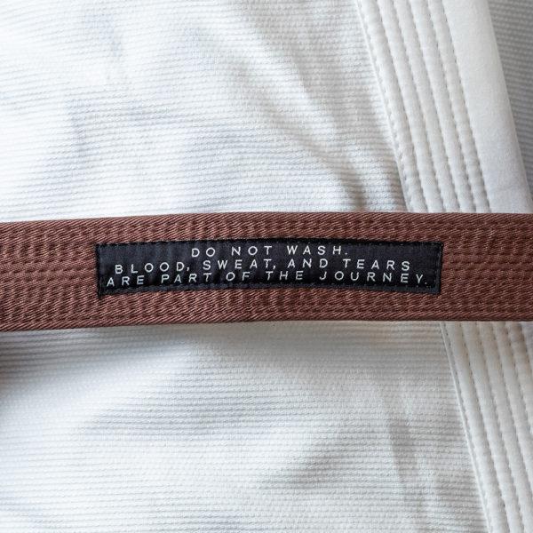 hyperfly bjj belt premium brown 2