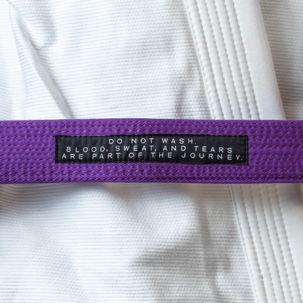 hyperfly bjj belt premium purple 2