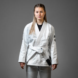 hyperfly bjj gi ladies hyperlyte 2.0 white black 1