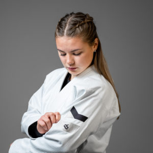 hyperfly bjj gi ladies hyperlyte 2.0 white black 3