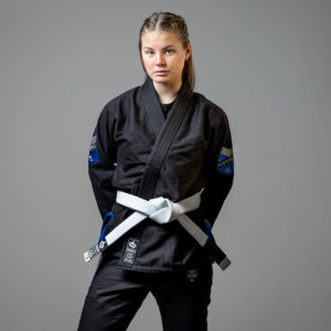 hyperfly bjj gi ladies premium 3.0 black 1