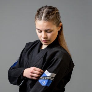 hyperfly bjj gi ladies premium 3.0 black 3