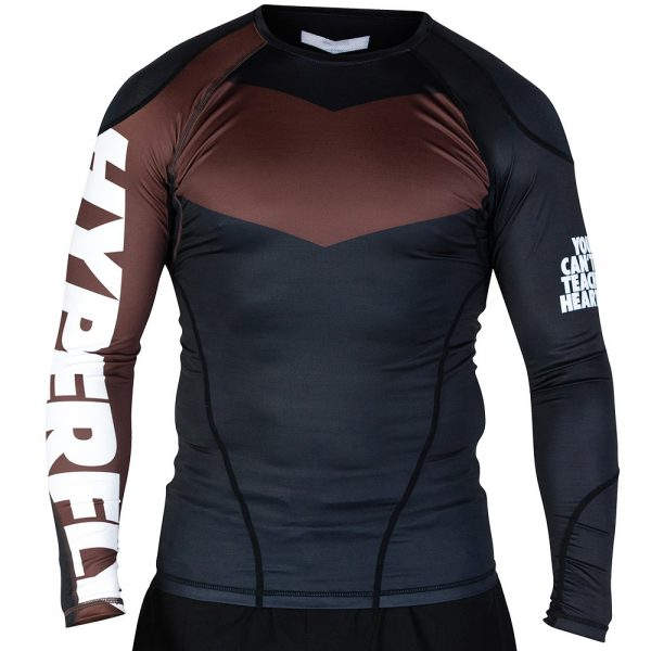 hyperfly rashguard supreme ranked ii long sleeve brun 1