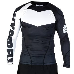 Hyperfly Rashguard Supreme Ranked II Long Sleeve white