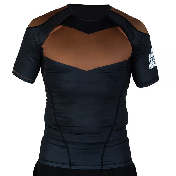hyperfly rashguard supreme ranked ii short sleeve brun 1
