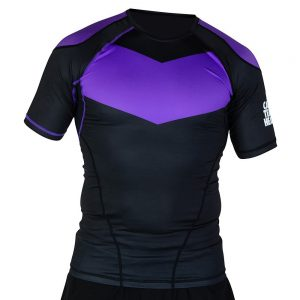 hyperfly rashguard supreme ranked ii short sleeve lila 1