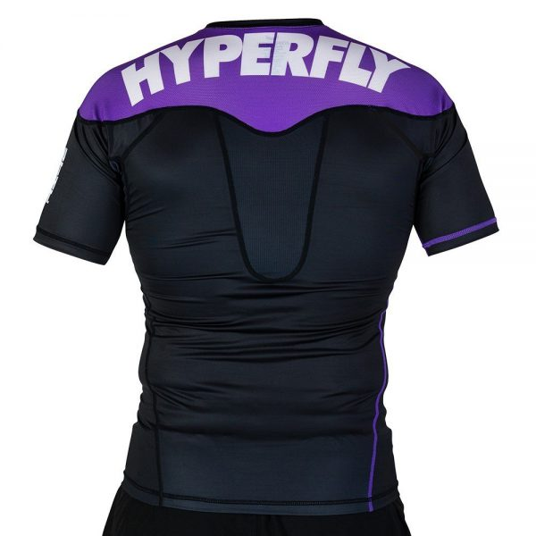 hyperfly rashguard supreme ranked ii short sleeve lila 2