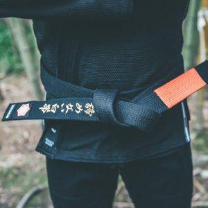 kanji bjj balte premium embroidered svart 1