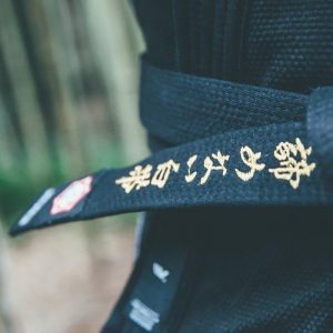 kanji bjj balte premium embroidered svart 3