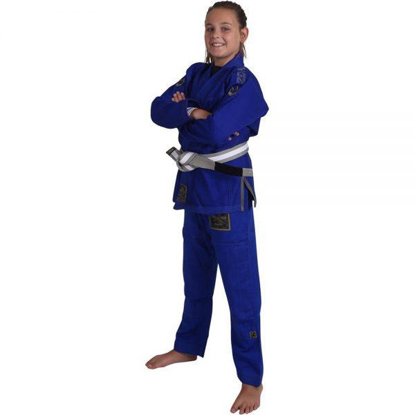 Kingz BJJ Gi Kids Comp V5 blue