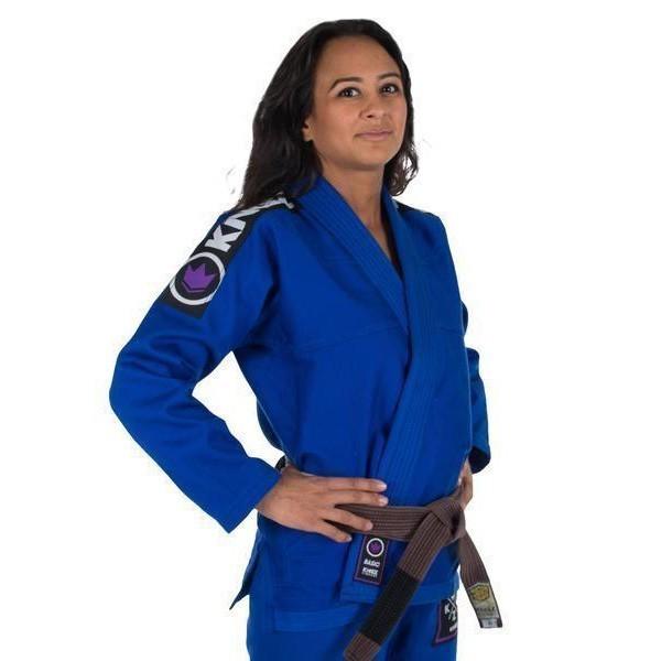 Kingz BJJ Gi Ladies Basic 2.0 blue incl. white belt