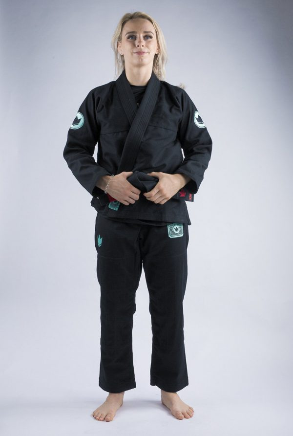 kingz bjj gi ladies classic 3.0 svart 1