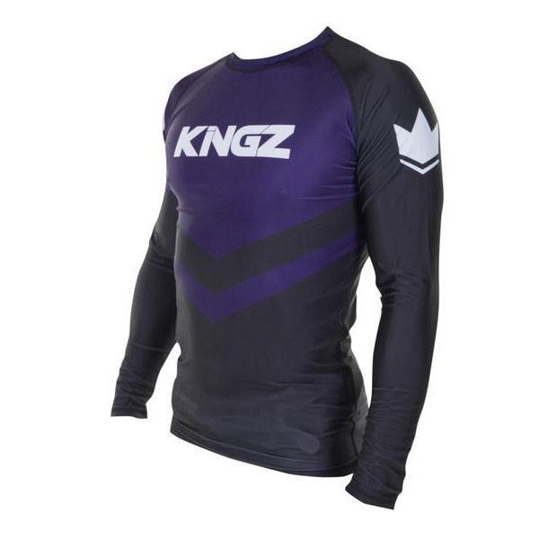 kingz rashguard ranked long sleeve lila 2