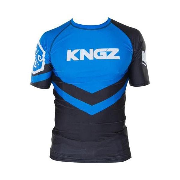 kingz rashguard ranked short sleeve bla 1