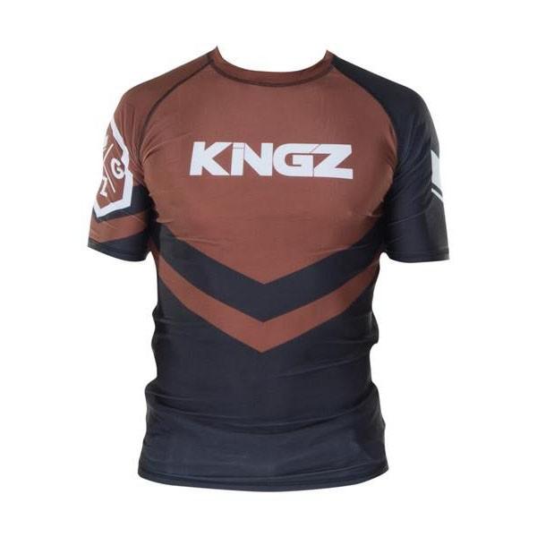 kingz rashguard ranked short sleeve brun 1