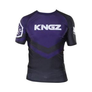 kingz rashguard ranked short sleeve lila 1