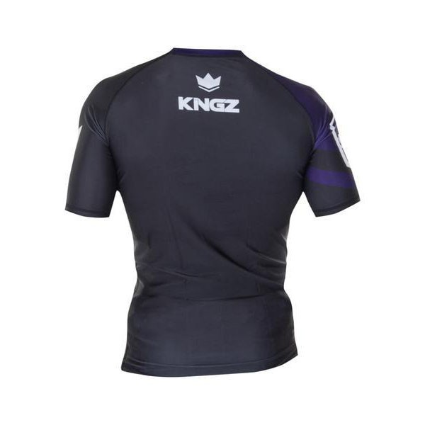 kingz rashguard ranked short sleeve lila 2