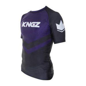kingz rashguard ranked short sleeve lila 3