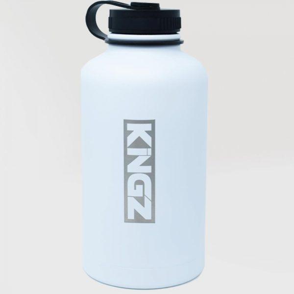 kingz vattenflaska hydrate vit 1