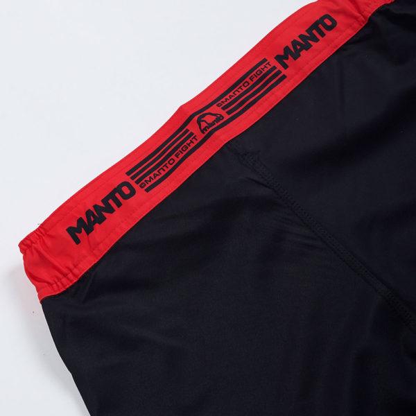 Manto Shorts Stripe 2.0 black red 2