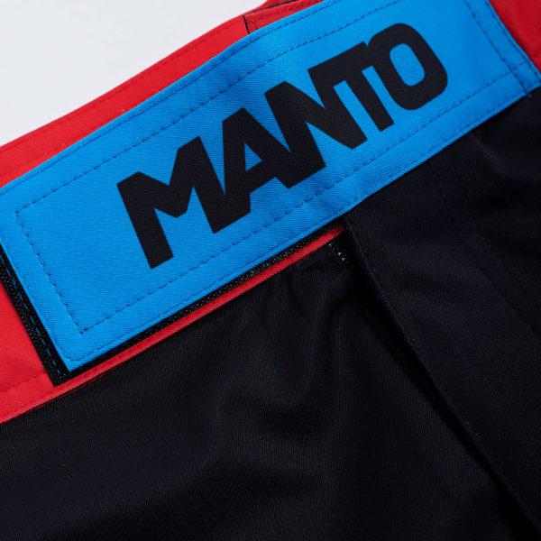 Manto Shorts Stripe 2.0 black red 3