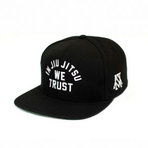 Newaza Cap In Jiu Jitsu We Trust white on black