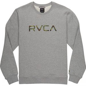 RVCA Crewneck Big Logo grey/camo