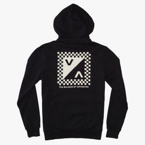 rvca hoodie check mate 2