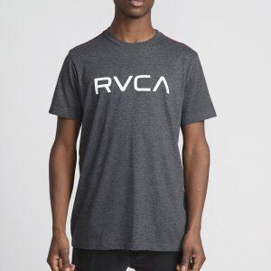 rvca t shirt big logo charcoal 1
