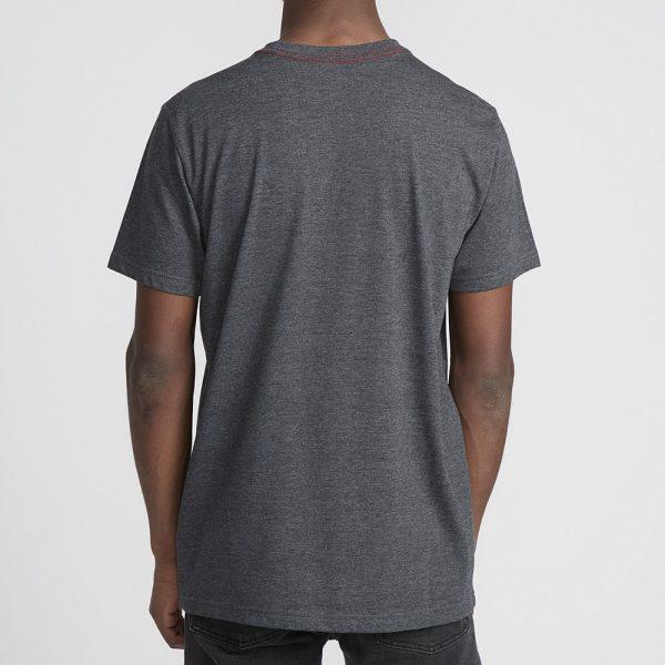 rvca t shirt big logo charcoal 3