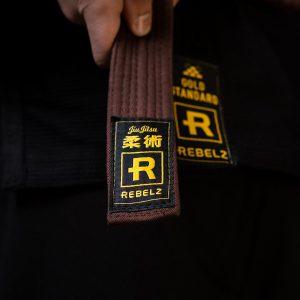 rebelz bjj balte standard brun 2