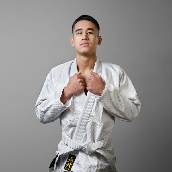 Rebelz BJJ Gi Gold Standard white