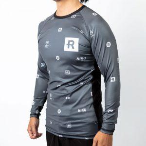 rebelz x niku rashguard dark logos 1