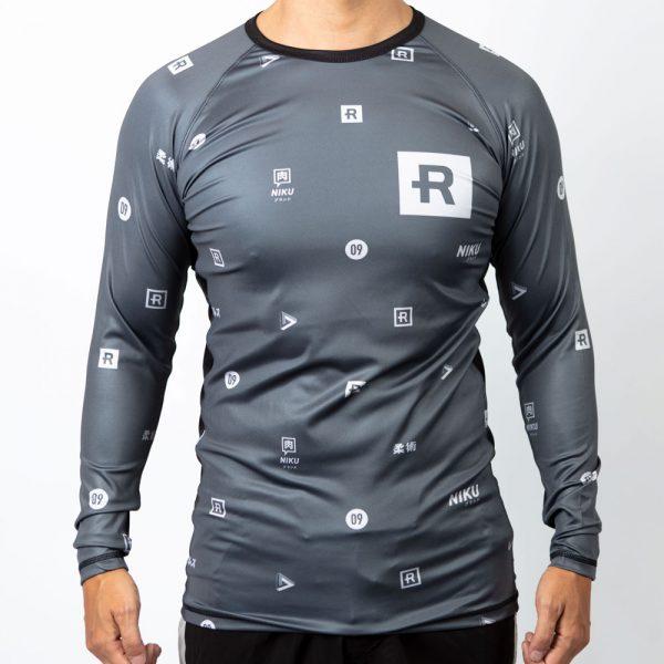 Rebelz x Niku Rashguard Dark Logos