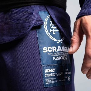 scramble bjj gi wave 2 navy 6