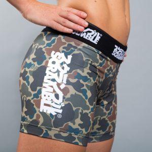 scramble womens vale tudo shorts camo 3