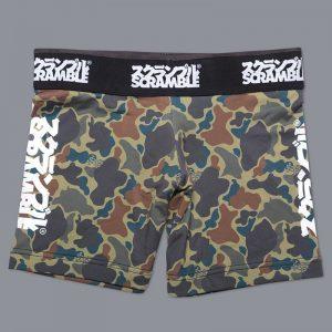 scramble womens vale tudo shorts camo 6