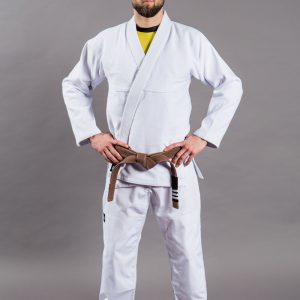 Scramble BJJ Gi Standard Issue Semi Custom white