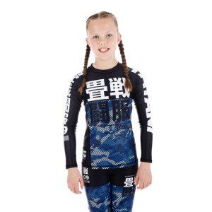 Tatami Kids Rashguard Essential Camo blue