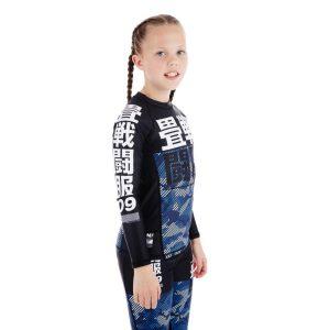 tatami kids rashguard essential camo bla 2