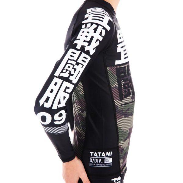 tatami kids rashguard essential camo gron 5