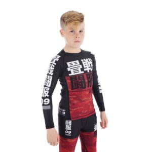Tatami Kids Rashguard Essential Camo red