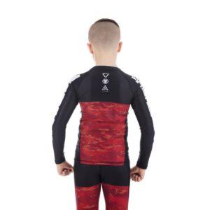 tatami kids rashguard essential camo röd 3