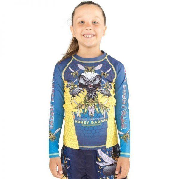 tatami rashguard kids honey badger v5 2