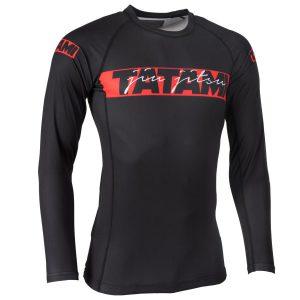 tatami rashguard red bar 1