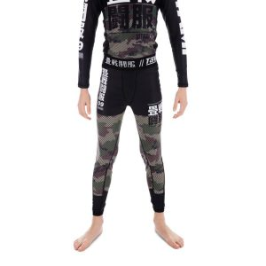 Tatami Spats Kids Essential Camo green