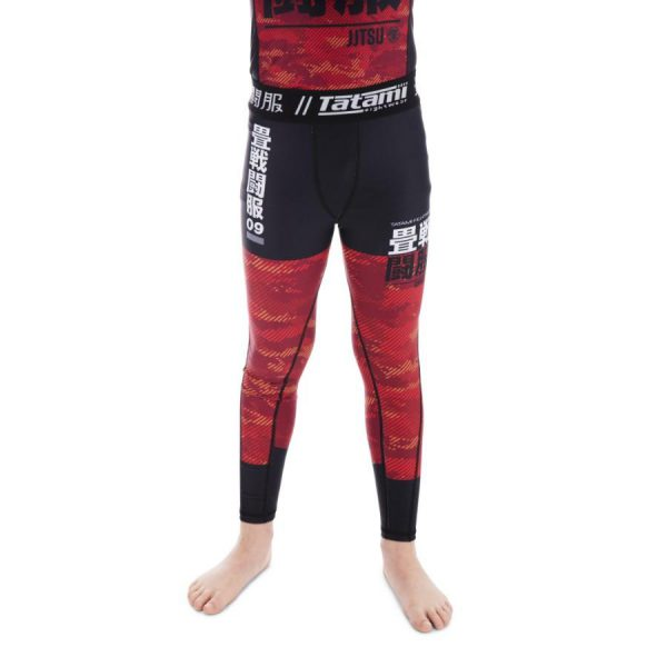 Tatami Spats Kids Essential Camo red